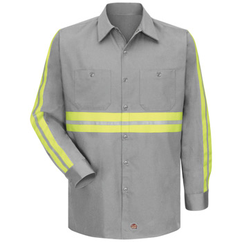 Enhanced Visibility Cotton Work Shirt