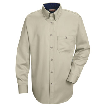 Men's Cotton Contrast Dress Shirt