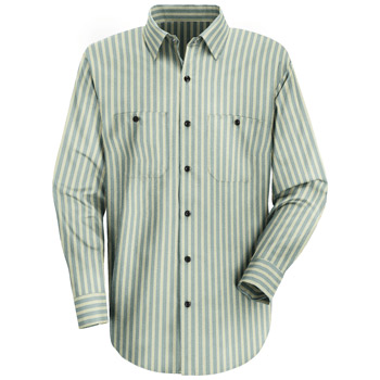 Men's Industrial Stripe Work Shirt