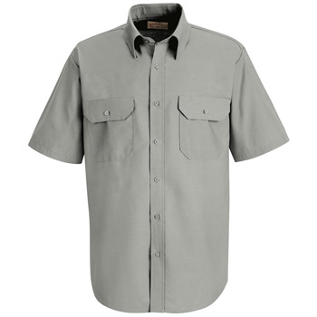 Men's Solid Dress Uniform Shirt
